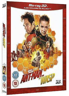 Marvel ANT-MAN AND THE WASP 3D + 2D Blu-Ray BRAND NEW Free Ship