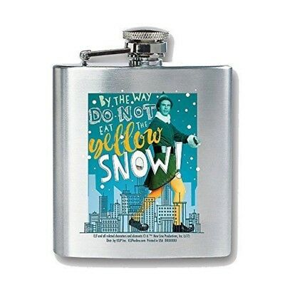 Elf The Movie Buddy The Elf Do Not Eat The Yellow Snow Stainless Steel Flask New