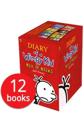 Diary of a Wimpy Kid - 12 Book Set Collection Xmas Christmas Gift
