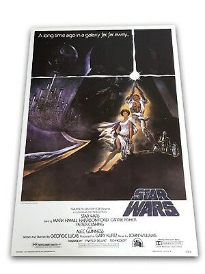 """""""Star Wars: A New Hope"""" 1977 Original Movie Poster Reprint Issue 27X40 Ford 1"""
