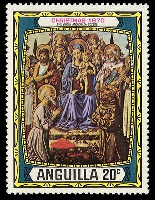 """ANGUILLA 115 (SG101) - """"Virgin and Child"""" by Gozzoli (pa51115)"""