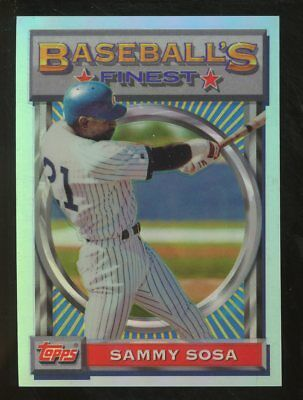 1993 Topps Finest Refractor #79 Sammy Sosa Chicago Cubs
