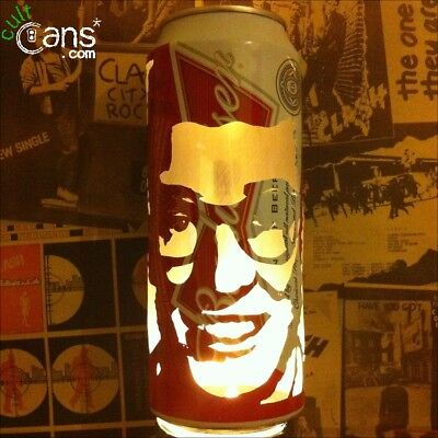 Buddy Holly Beer Can Lantern! The Crickets Pop Art Portrait Candle Lamp