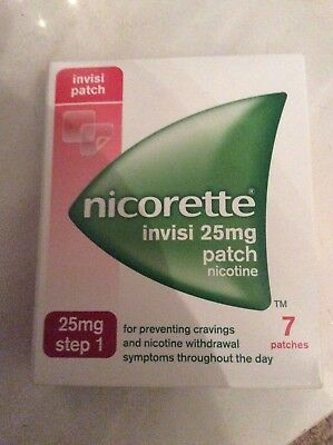 Nicorette Nicotine Invisipatch 25Mg Step 1 X7 Patches 1 Week Supply 05/2019