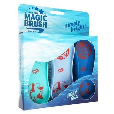 3 Pack Of Magicbrush New Colours For Horses And Ponies Or Dog Grooming Kit