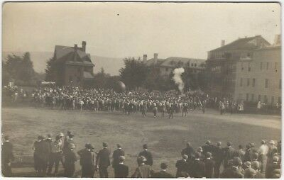 1910s High School Giant Ball Game on Playing Field Real Photo Postcard