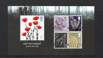 Gb 2006 Lest We Forget 1 Miniature Sheet Um/mnh Sg Ms2685 Somme