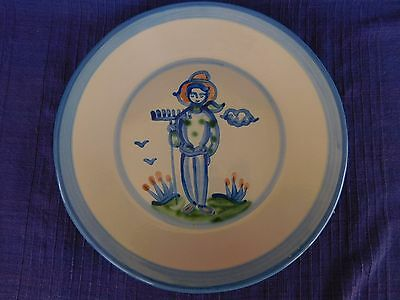 M.A. Hadley Country Scene DINNER PLATE have lots of items FARMER AS-IS