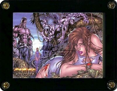 Witchblade Millennium 2000 Trading Card 14 Signed By Artist Michael Turner