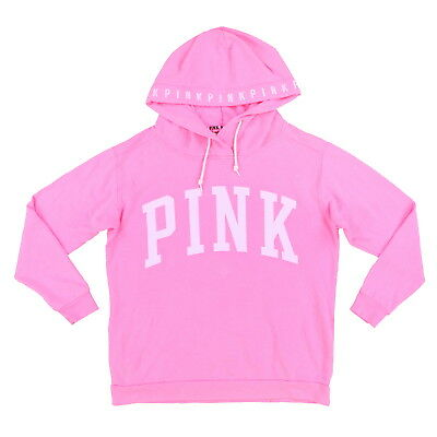 Victoria's Secret Pink Hoodie Sweatshirt Pullover Big Logo New Damaged Nwt Vs