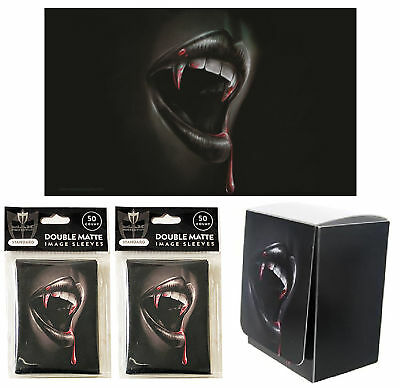 Thirst Vampire 100ct Max Pro MTG Size Double Matte Sleeves Deck Box Playmat