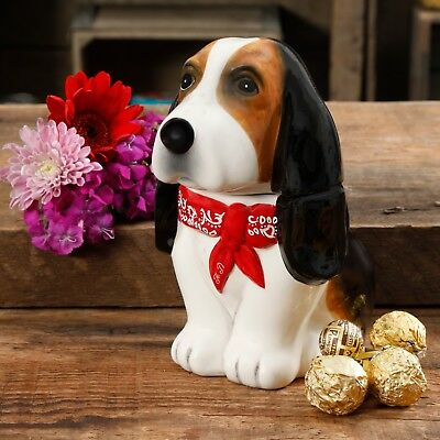 Pioneer Woman Henry Not Charlie Basset Hound Dog Candy Treat Jar New Adorable