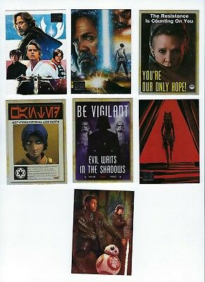 2018 Star Wars Galaxy master set base 1-100 + 6 insert 142 total cards