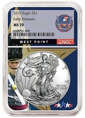 2019 1oz Silver Eagle NGC MS70 - Early Releases - West Point Core
