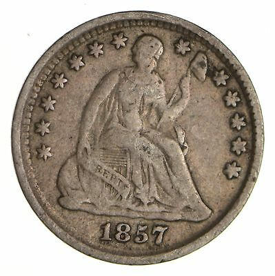 5c ***1/2 Dime** - 1857 Seated Liberty Half Dime - Early American Type Coin *947