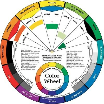 "One 2-Sided 9 1/4"" Color Wheel to Teaches Color Relationships"