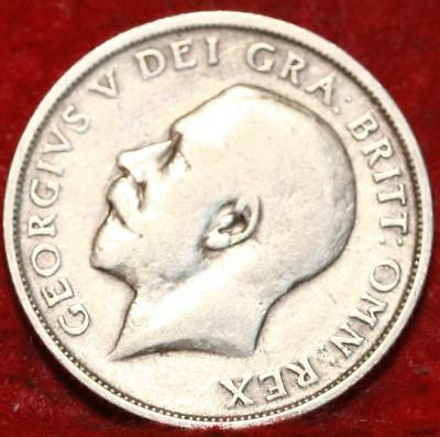 1914 Great Britain Shilling Silver Foreign Coin
