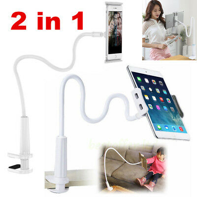 360º Lazy Bed Gooseneck Desk Mount Stand Holder For iPhone iPad Android Tablet