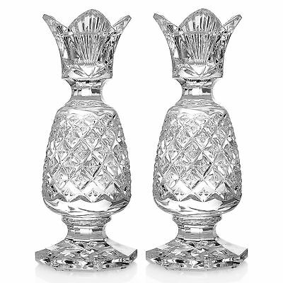 "Waterford Crystal Hospitality Set of (2) 6"" Wedge Cut Candlesticks"