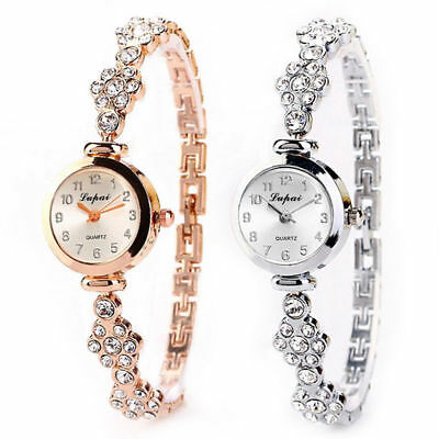 Fashion Women's Stainless Steel Crystal Dial Quartz Bracelet Luxury Wrist Watch