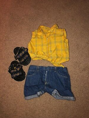 American Girl Doll Plaid Shirt Retired Outfit