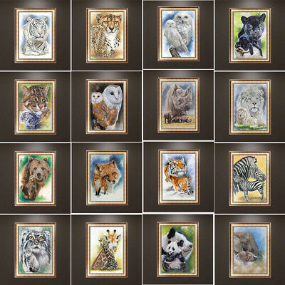 DIY Full 5D Diamond Painting Animals Embroidery Cross Stitch Craft Home Decor