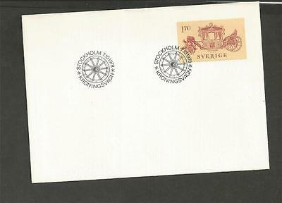 SWEDEN - 1978 Coronation-coach    - FIRST DAY COVER