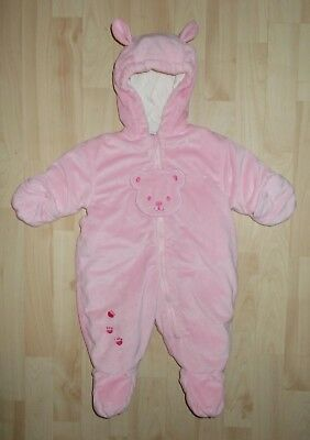 97f8f9dfe Okie Dokie Pink Snowsuit Bunting Bear Snowsuit Infant Baby Girl 3-6 months  Warm!