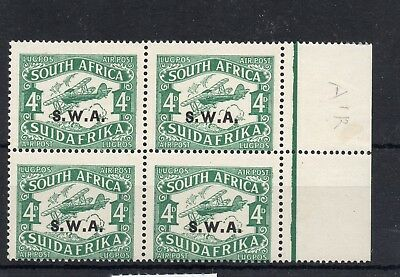 South West AFRICA (JAG115) SG 72 - 1930 4d Air with short i in Air -never hinged
