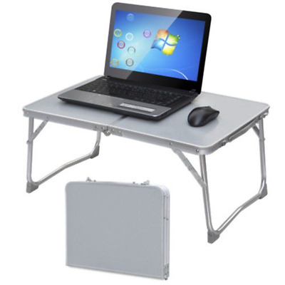 Aluminium Adjustable Portable Folding Laptop Desk Table Stand Lap Tray Bed Sofa