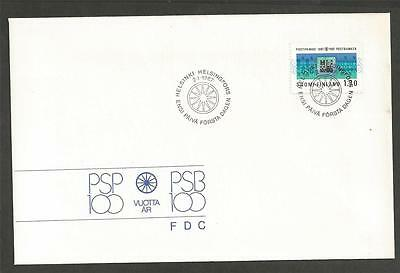 FINLAND - 1987 The 100th anniversary of the postal bank  - FIRST DAY COVER.