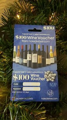 LOT of 5 - $100 Wine Voucher - Naked Wines Nakedwines.com - many available