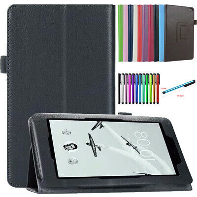 """For 7"""" 8"""" Lenovo Tab E7 E8 Folding Stand Leather Business Heavy Duty Case Cover"""