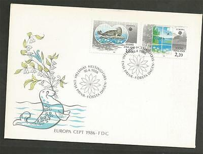 FINLAND -1986 Eurostamps - Protection of nature and environment - F.D. COVER.