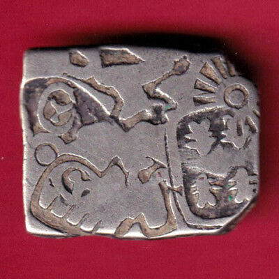 Ancient India - King Ashoka - Punchmark - Rare Silver Coin #h42