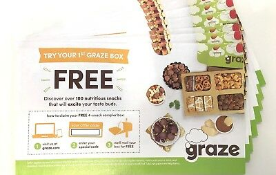 Lot of 23 - Graze Coupon: 4 Snack Sampler First Box - doesn't expire