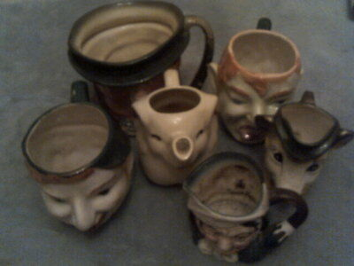 EXCELLENT AND UNUSUAL LOT Of Toby Figurines and Animal Mugs/Elephant-Kangaroo+