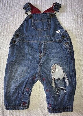 Next Baby Boys Blue Denim Dungarees. Age Up To 3 Months