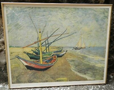 VINCENT VAN GOGH Fishing Boats on the Beach 1888 Printed in the Netherlands