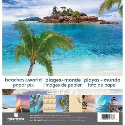 """Paper House Double-sided Paper Pad 12""""x12"""" 24/pkg-beaches Of The World"""