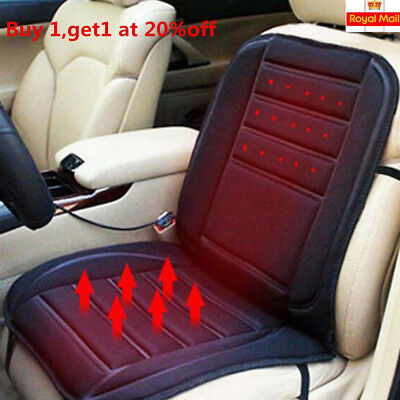 12V Car Seat Pad Cushion Cover Heating Heater Warm Heated Cold Winter Universal