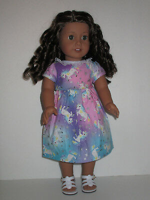 "Sparkly Unicorn Dress for 18"" Doll American Girl Doll Clothes"