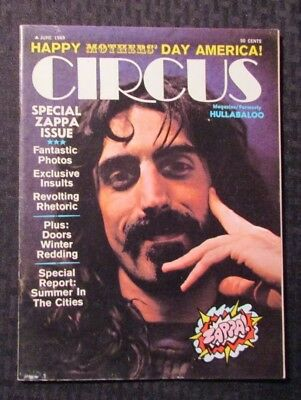 1969 June CIRCUS Music Magazine GD 2.0 Frank Zappa Special