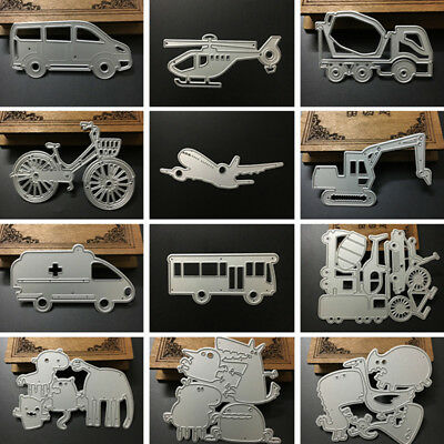 Metal Steel Cars Animals Snowflake Cutting Dies Stencil DIY Scrapbooking Album