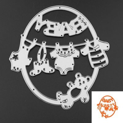 Cute Baby Clothes Bear Metal Cutting Dies Embossing StencilsDIY Scrapbook Frame