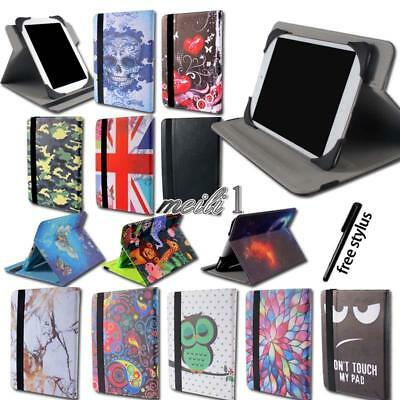 """Folio Flip Leather Rotating Stand Smart Cover Case For Various 7"""" 8"""" 10"""" TABLET"""