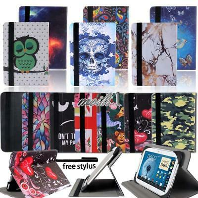 Folio Flip Leather Rotating Stand Cover Case For Samsung Galaxy Tab 2/3/4 Tablet
