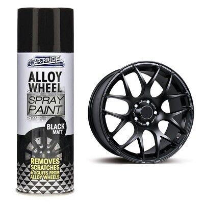 Car-Pride Car Alloy Wheel Matt Black Spray Paint 400ml CP074