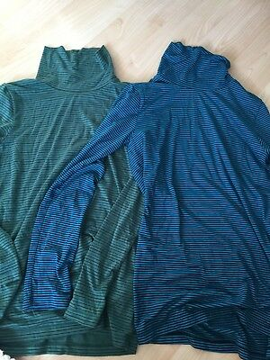 Boys  UNIQLO Turtle Neck Heattech top X 2 Age 9-10 Base Layers Thermal Ski