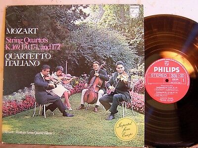 Philips 6500 644 Mozart 4  String Quartet K.169 172 Quartetto Italiano VOL 5 NM